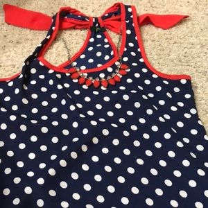 Cute polka dot tank